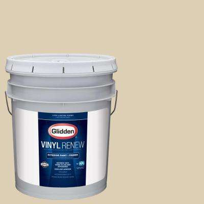5 gal. #HDGO61D Georgian Ivory Low-Lustre Exterior Paint with Primer