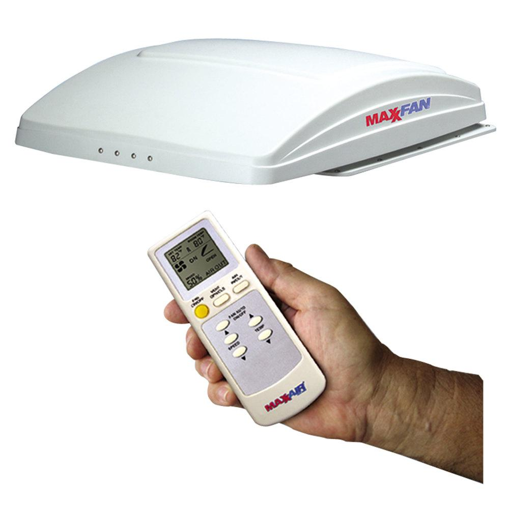 MaxxAir MaxxFan Deluxe with Remote - White