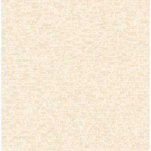 8 in. x 10 in. Belvedere Cream Faux Slate Wallpaper Sample