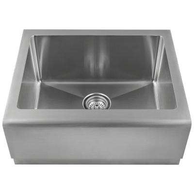 Farmhouse Apron Front Stainless Steel 23-3/4 in. Single Bowl Kitchen Sink