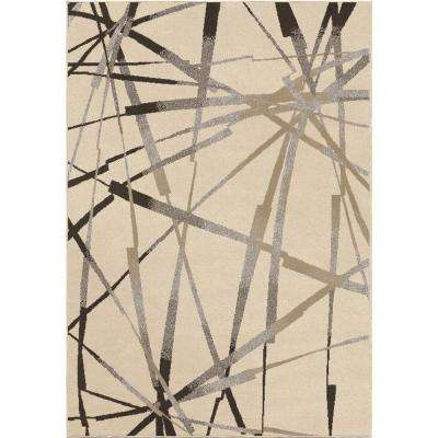 Stormy Ivory 5 ft. 3 in. x 7 ft. 6 in. Indoor Area Rug