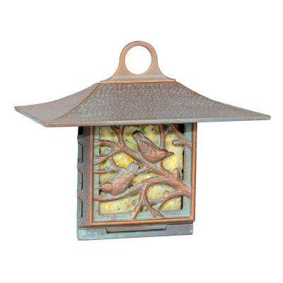 Copper Verdigris Nuthatch Suet Feeder