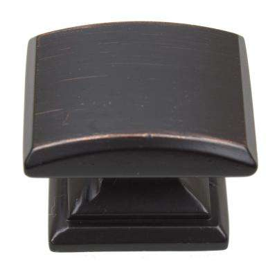 1-1/4 in. Oil Rubbed Bronze Domed Convex Square Cabinet Knob (10-Pack)