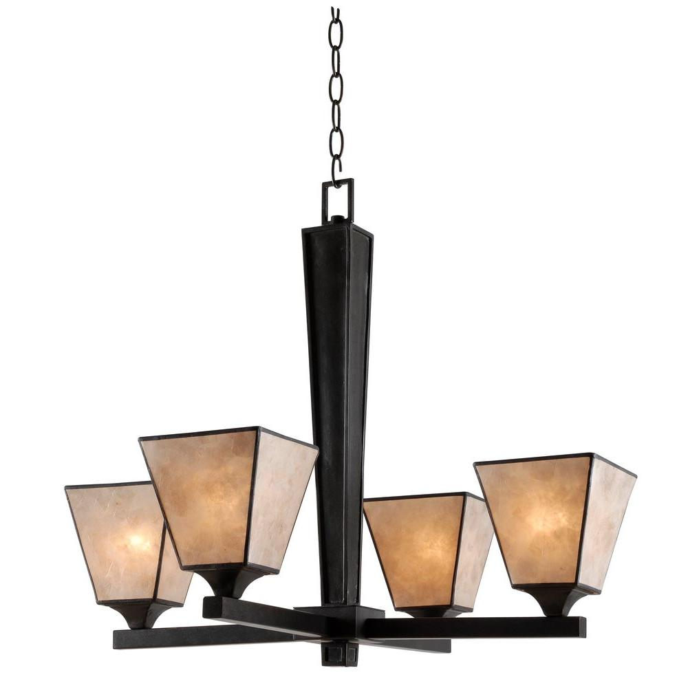 Capell 4-Light Bronze Chandelier