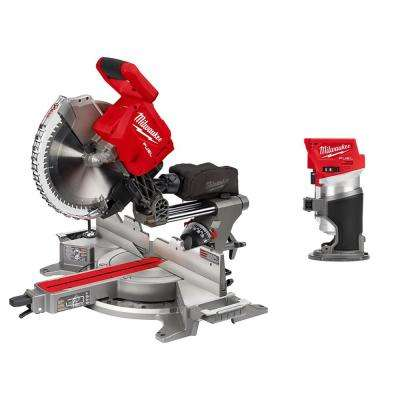 M18 FUEL 18-Volt Lithium-Ion Brushless 12 in. Cordless Dual Bevel Sliding Compound Miter Saw with Compact Router