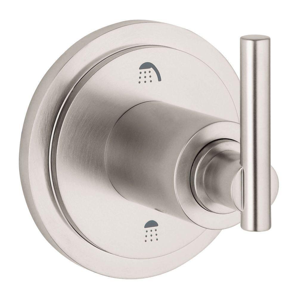 3 Way Shower Diverter Valve Brushed Nickel.Grohe Atrio Lever Single Handle 3 Way Diverter Valve Trim Kit In Brushed Nickel Valve Sold Separately