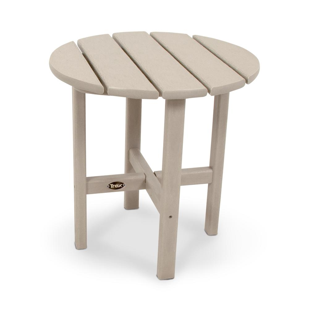Trex Outdoor Furniture Cape Cod 18 In Sand Castle Round