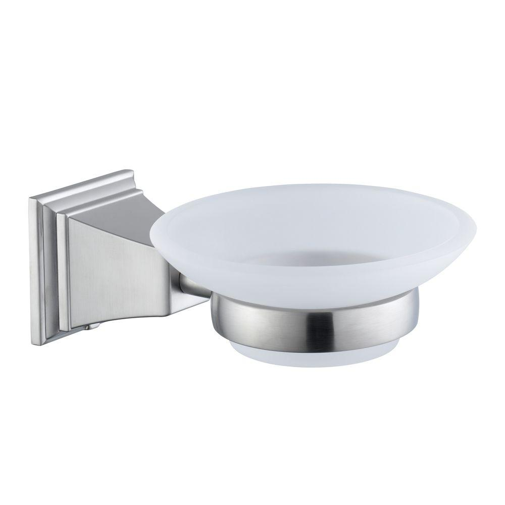 Glacier Bay Exhibit Wall Mounted Soap Dish In Brushed Nickel