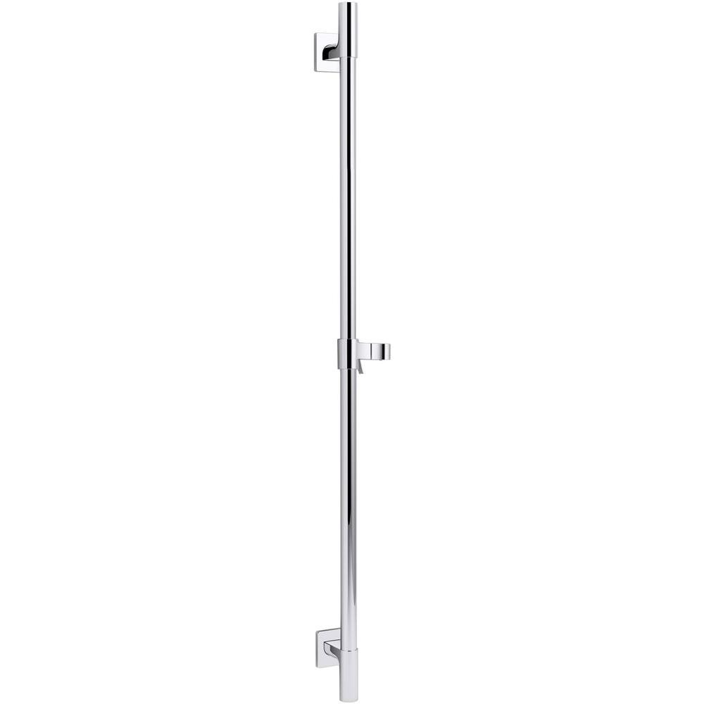 Awaken 36 in. Deluxe Slide Bar in Vibrant Brushed Nickel
