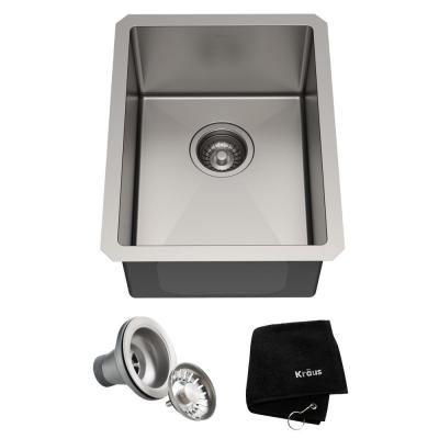 Standart PRO Undermount Stainless Steel 14 in. Single Bowl Bar Sink