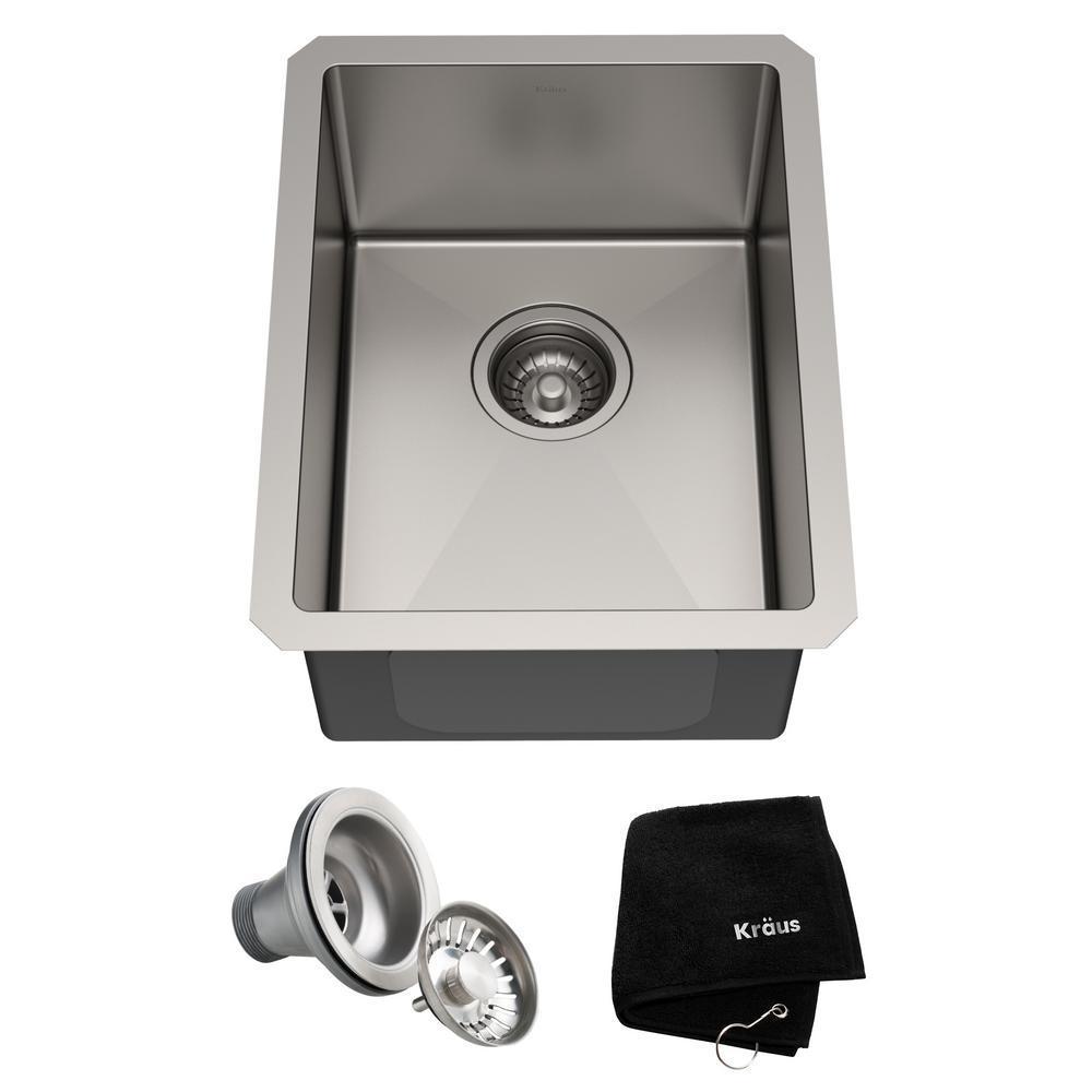 Standart PRO Undermount Stainless Steel 14 in. Single Bowl Bar Sink