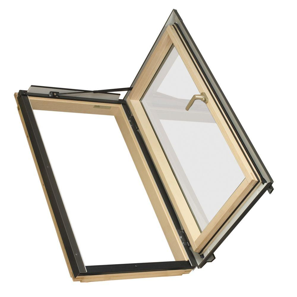 Fakro FWU-R Egress Window 22-1/4 in. x 37-1/4 in. Venting Roof Access Skylight with Tempered Glass, LowE