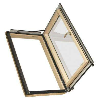 FWU-R Egress Window 22-1/4 in x 37-1/4 in. Venting Roof Access Skylight with Tempered Glass, LowE