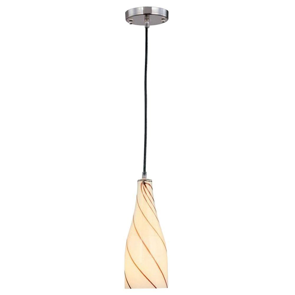 Illumine Designer Collection 1-Light Steel Pendant