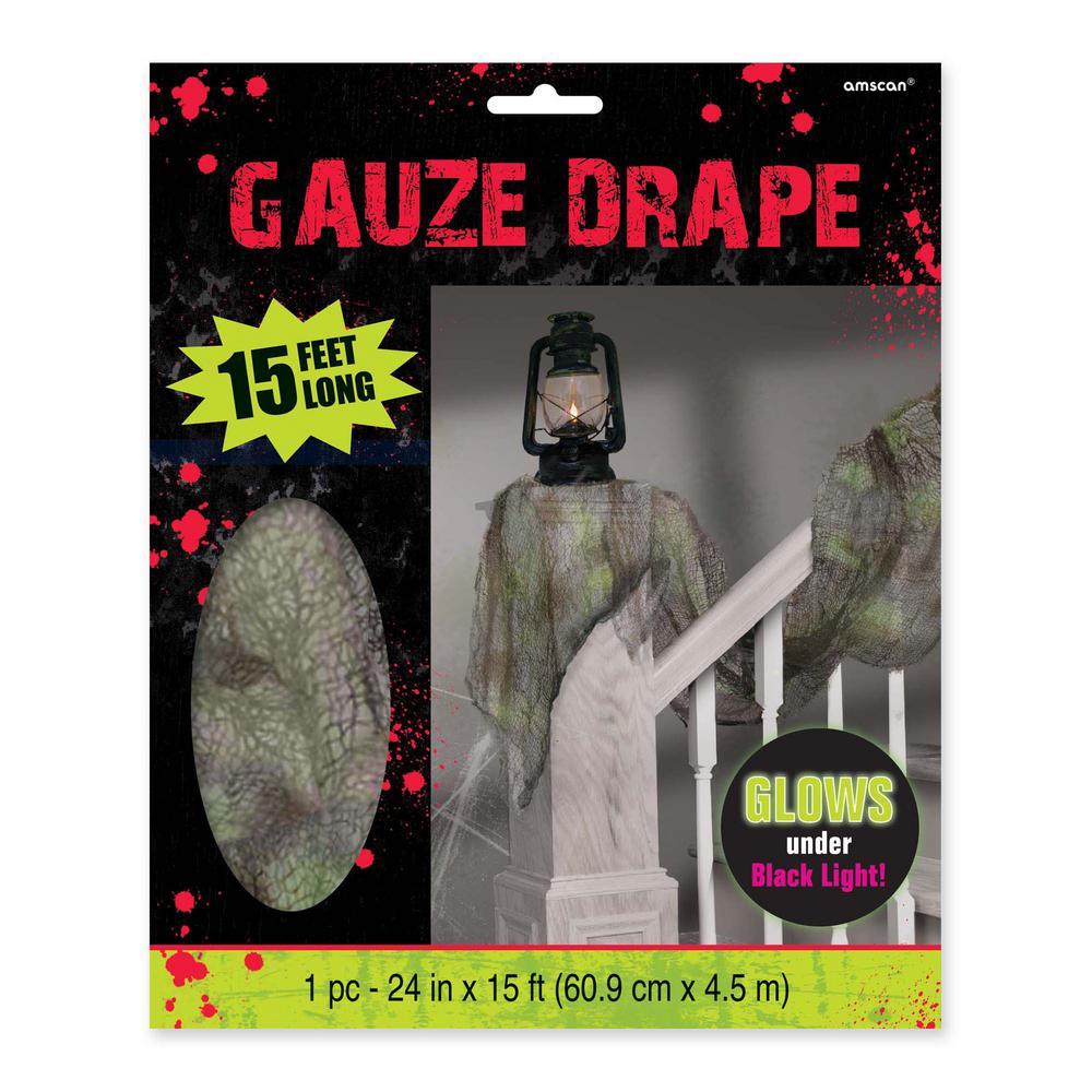 15 ft. x 2 ft. Halloween Gauze Drape (2-Pack)