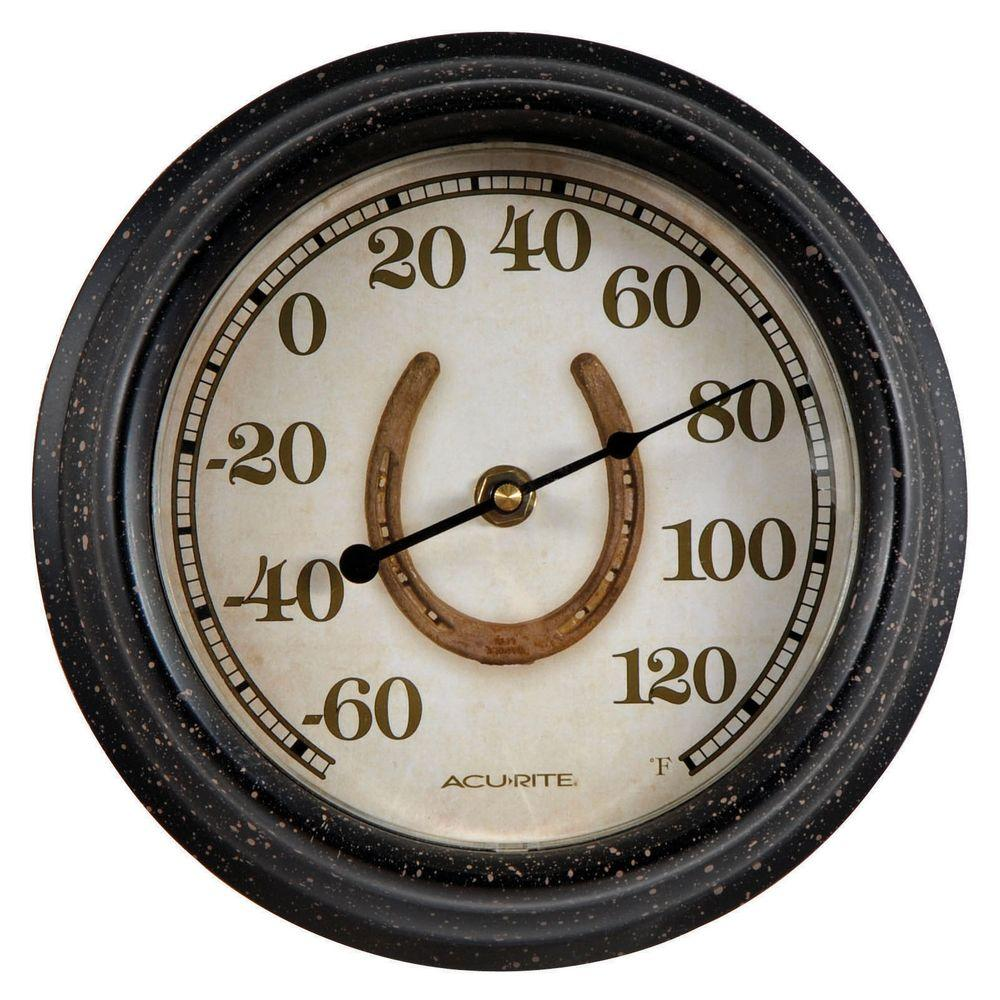 AcuRite 8 in. Horse Shoe Analog Thermometer