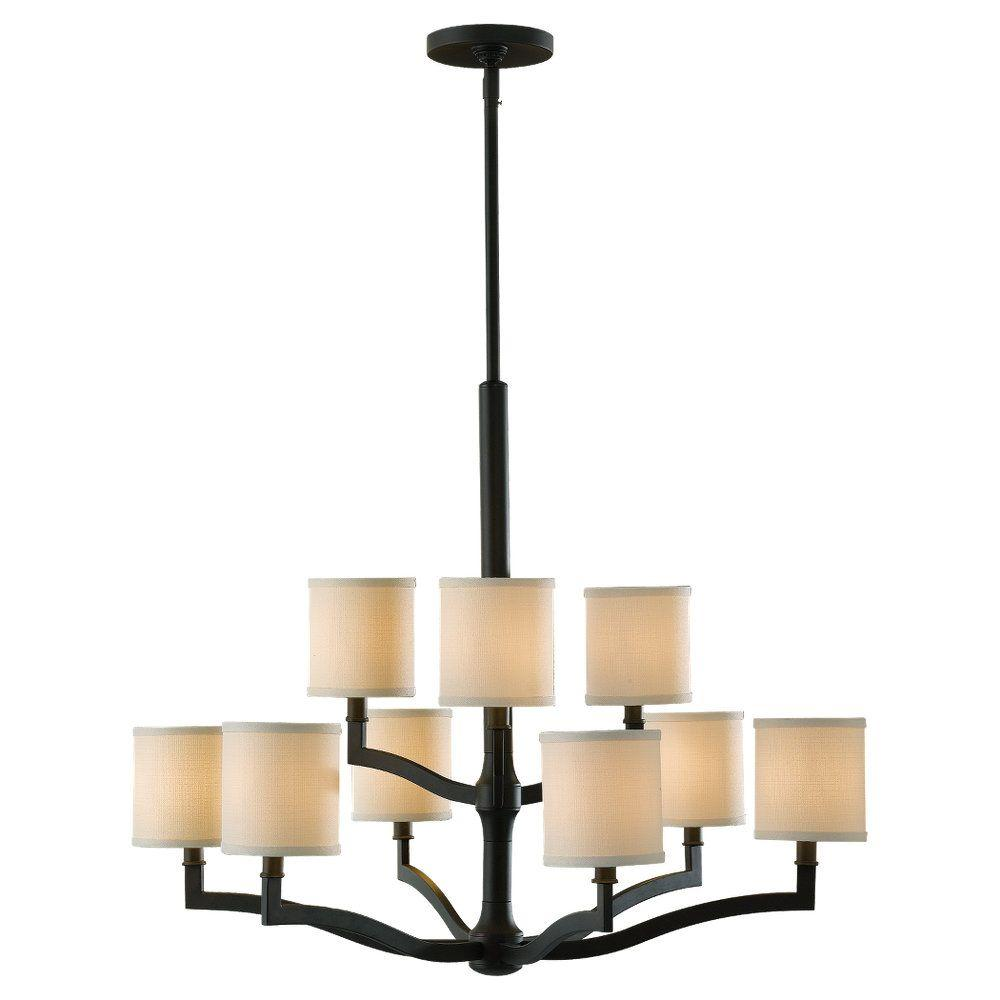 Feiss Stelle 9 Light Oil Rubbed Bronze Multi Tier Chandelier