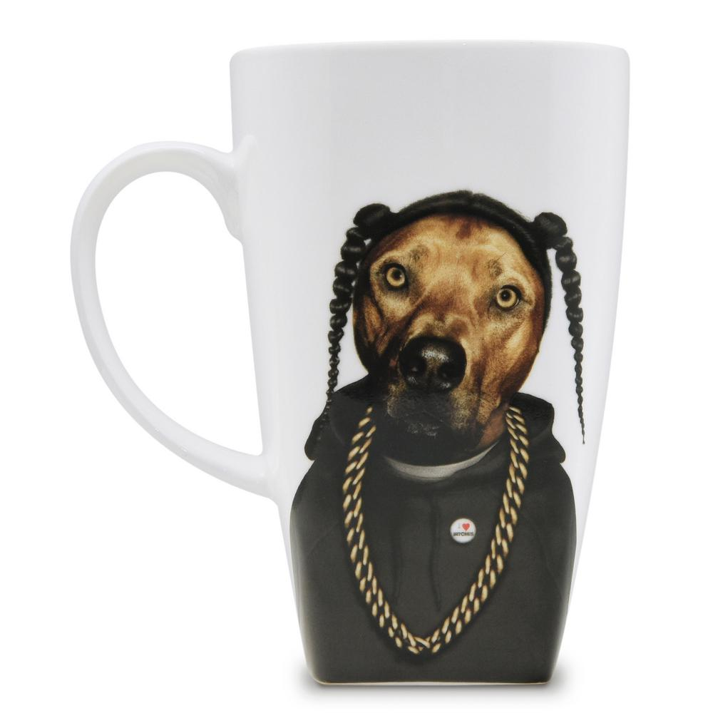 20 oz.  Rap  Pets Rock Collectible Fine Bone China Mug, Rap These Pets Rock fine bone china coffee mugs give you the option to see the adorable pets you love dressed as celebrities on your mugs. Available with a variety of furry creatures to fit any animal lovers desires. What better way to start your morning than with a cup of Joe and your adorable Pets Rock buddy. The porcelain is milky white in color, beautiful in shape and comfortable in your hand. Color: Rap.