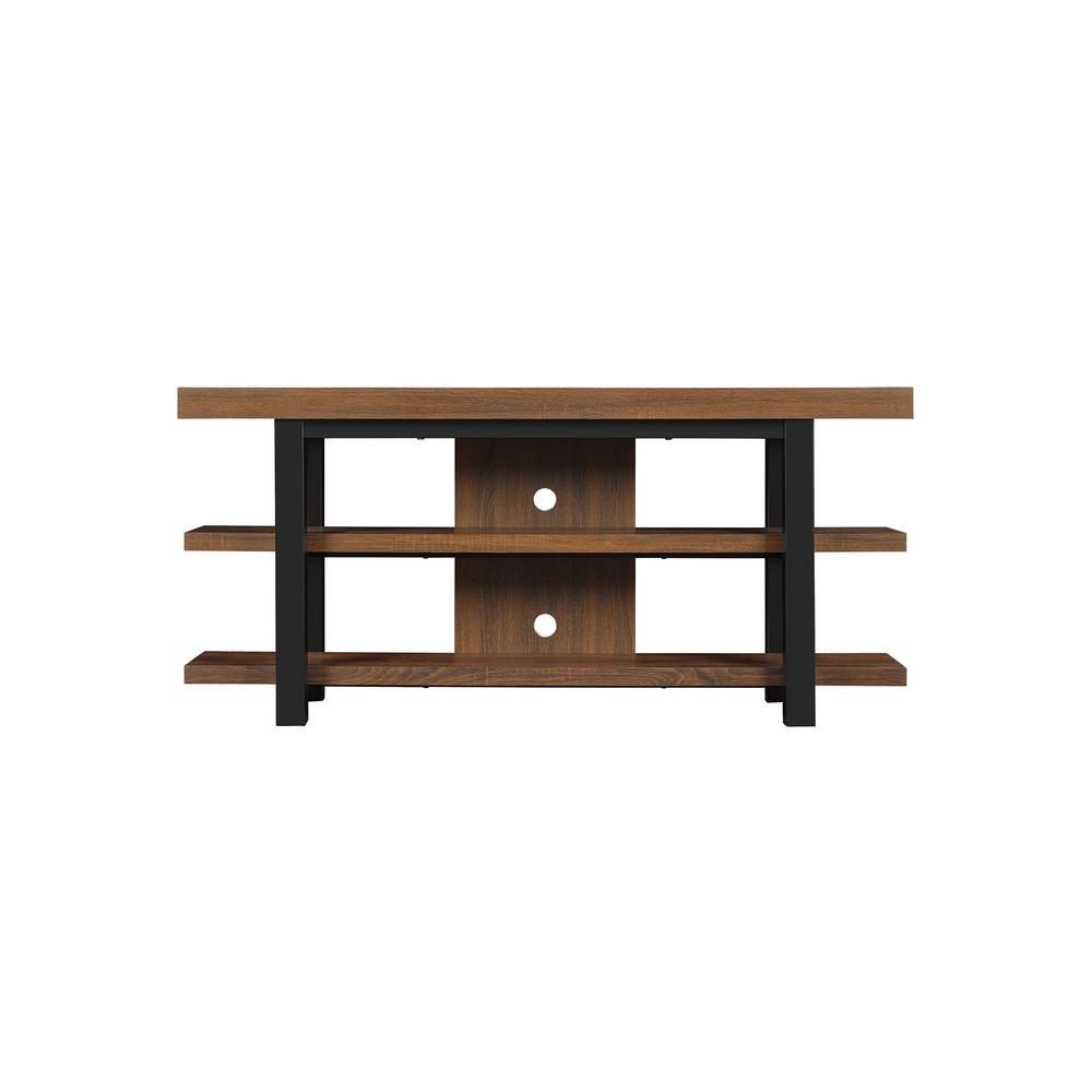 BellO Bell'O Timbercroft TV Stand for 65 in. TVs in Saddleback Brown Oak