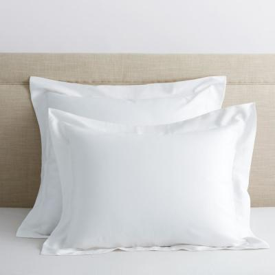 Legends Hotel White 300-Thread Count TENCEL Lyocell Sateen Standard Sham