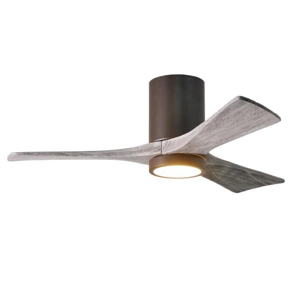 Irene 42 in. LED Indoor/Outdoor Damp Textured Bronze Ceiling Fan with Light with Remote Control and Wall Control