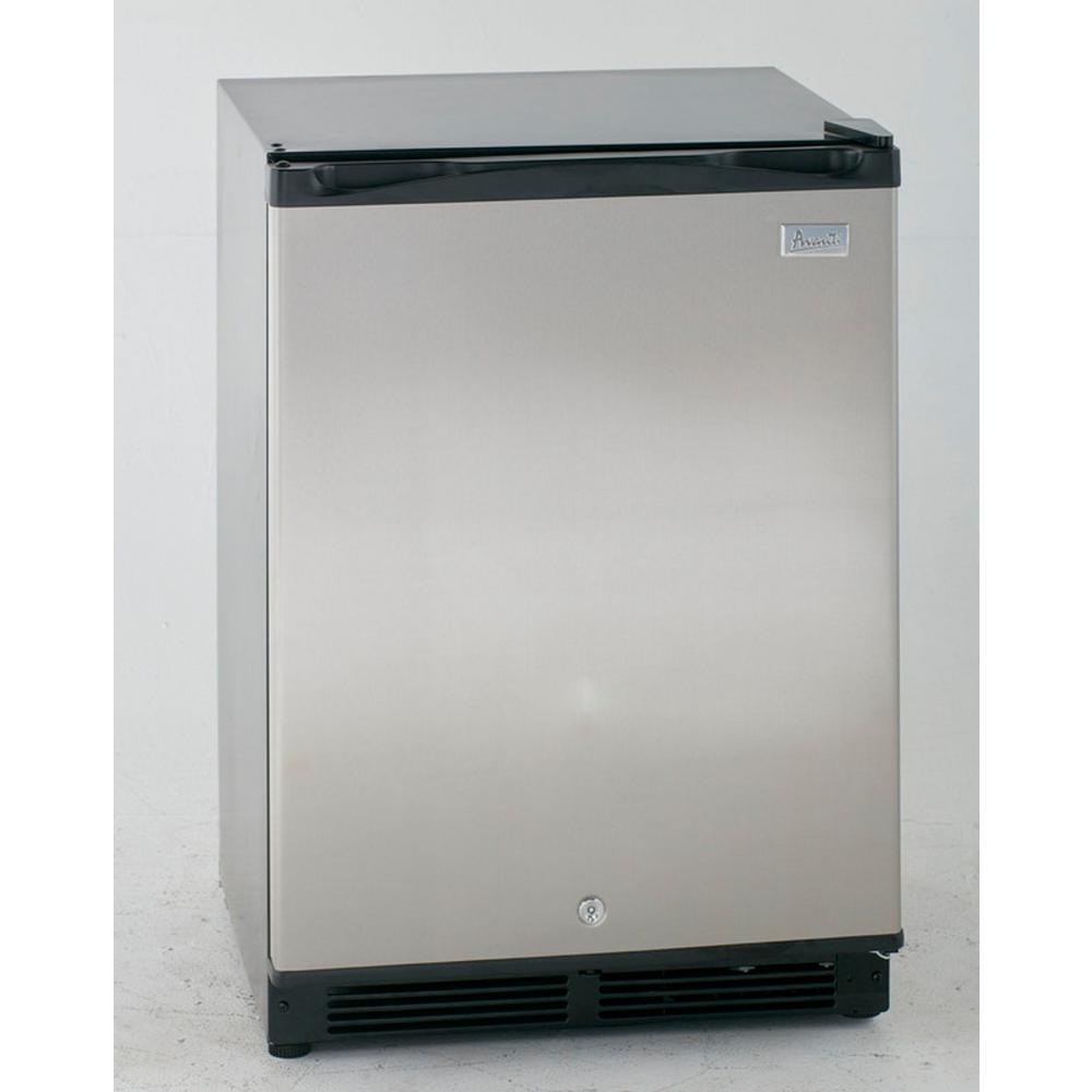 5.2 cu. ft. Mini Refrigerator in Black with Stainless Steel Door