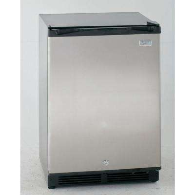 5.2 cu. ft. Mini Fridge in Black with Stainless Steel Door
