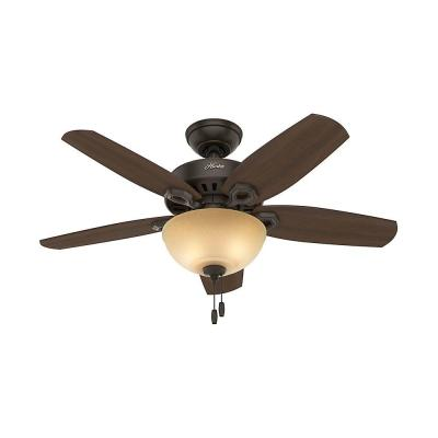 Builder Small Room 42 in. Indoor New Bronze Bowl Ceiling Fan with Light Kit