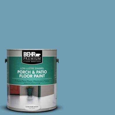 1 gal. #S480-4 Saga Blue Low-Lustre Porch and Patio Floor Paint