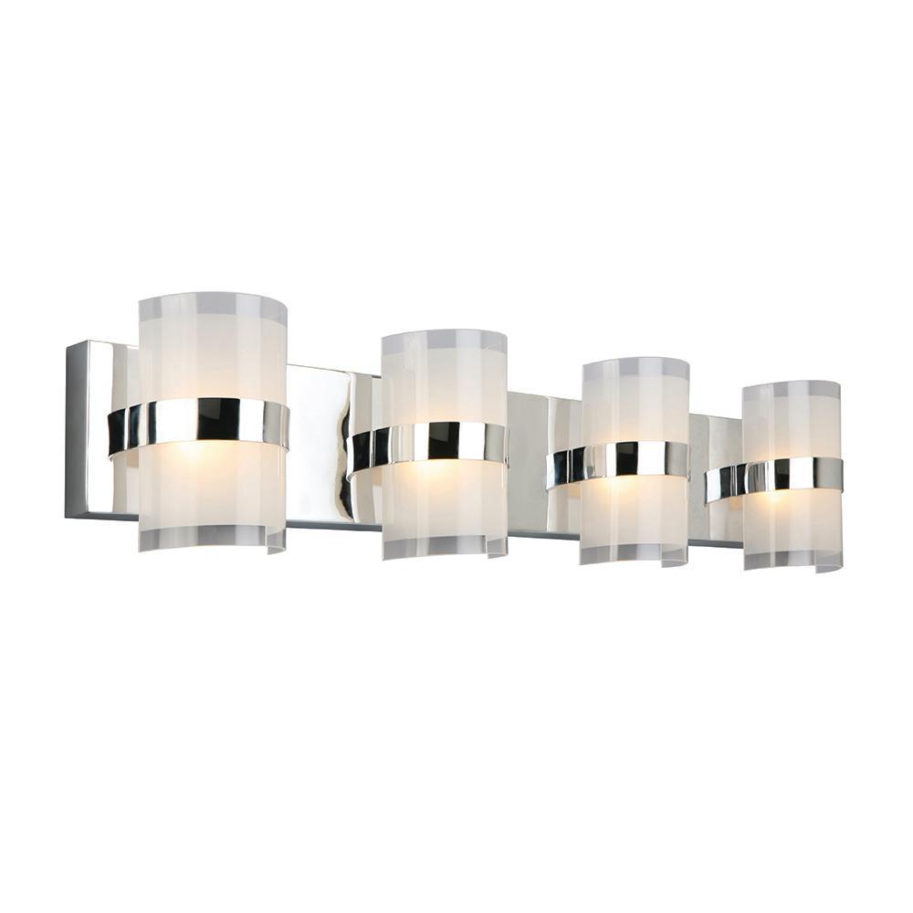 Haswell 32-Watt Polished Chrome Integrated LED Bath Light