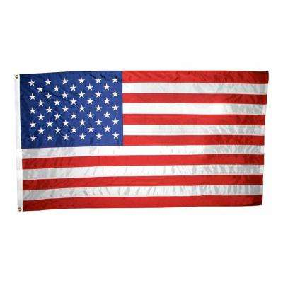 3 ft. x 5 ft. Nylon U.S. Flag with Embroidered Stars
