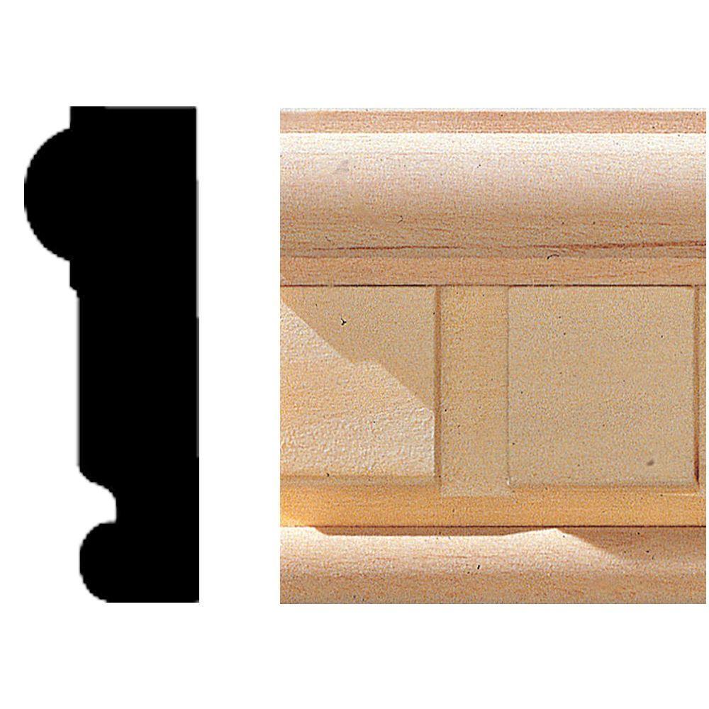 House of Fara 3/4 in. 2-1/8 in. x 8 ft. Hardwood Dentil Chair Rail Moulding