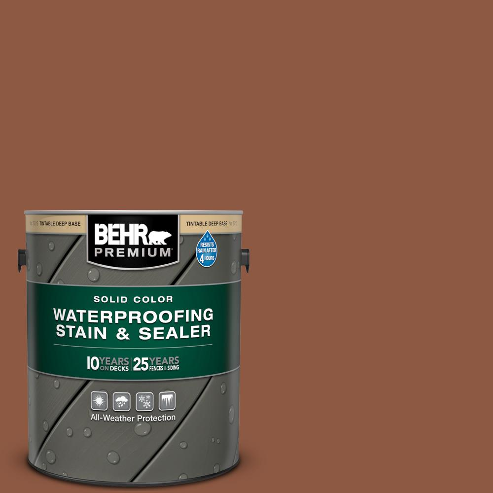 BEHR Premium 1 gal. #PPU3-18 Artisan Solid Color Waterproofing Exterior Wood Stain and Sealer