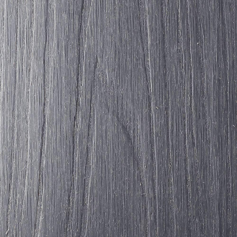 NewTechWood UltraShield Naturale Voyager Series 1 in. x 6 in. x 1 ft. Hollow Westminster Gray Composite Deck Board Sample