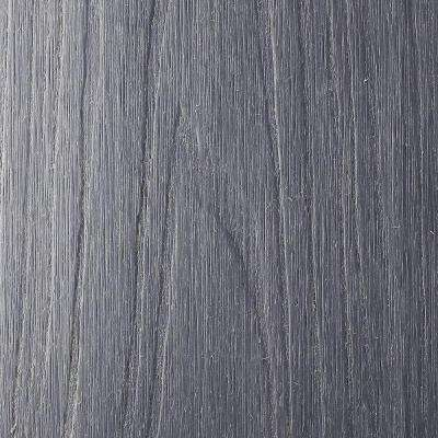 UltraShield Naturale Voyager Series 1 in. x 6 in. x 1 ft. Hollow Westminster Gray Composite Deck Board Sample