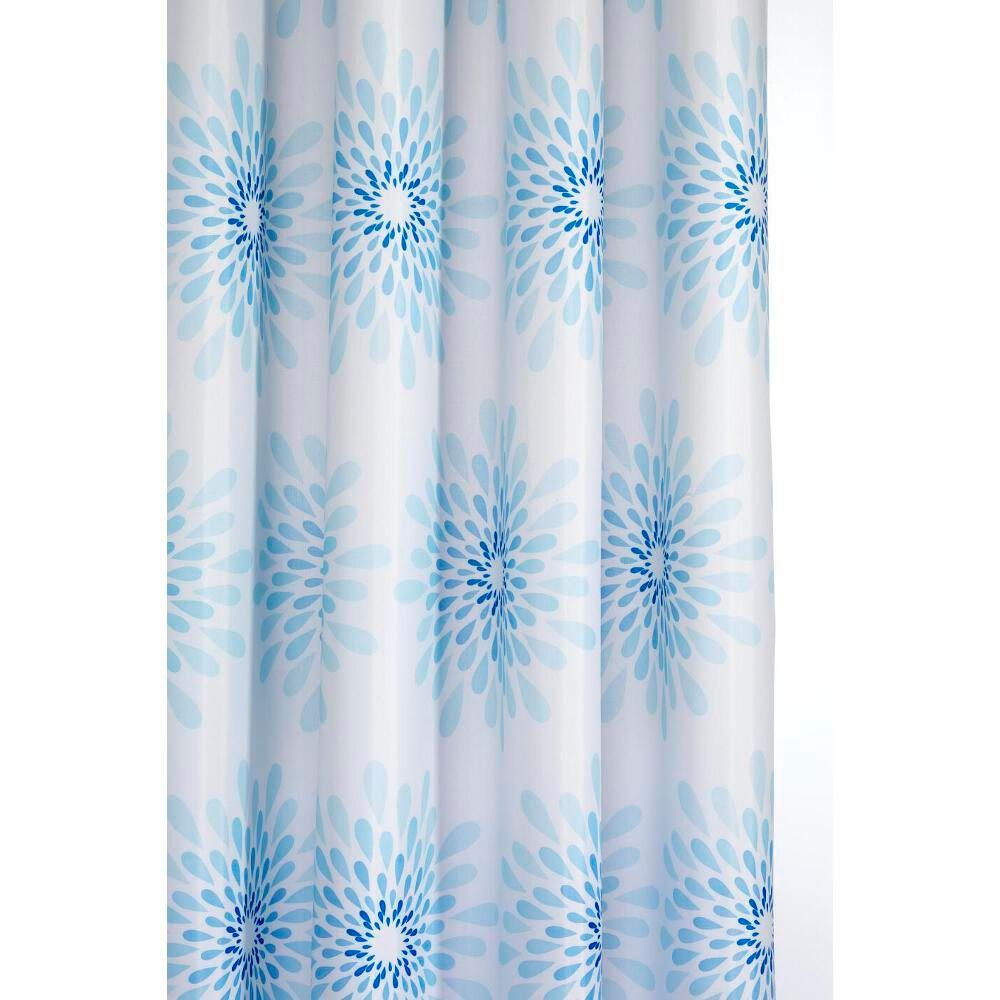 Splash Shower Curtain In Blue White