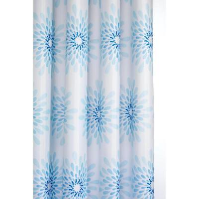 70-7/8 in. Splash Shower Curtain in Blue/White
