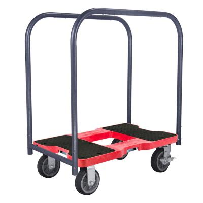 1,500 lbs. Capacity All-Terrain Professional E-Track Panel Cart Dolly in Red