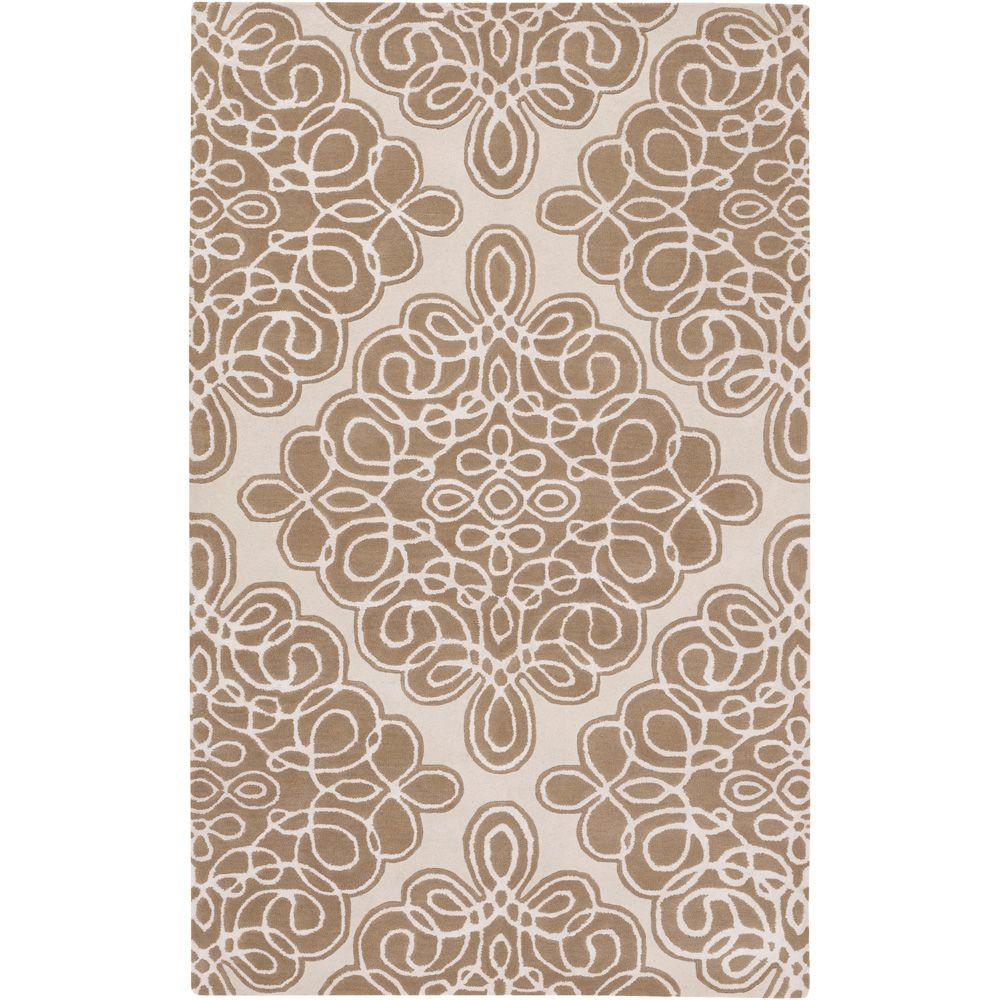 Surya Candice Olson Cream 3 ft. 3 in. x 5 ft. 3 in. Area Rug