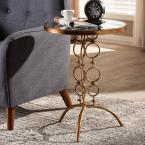 Baxton Studio Issa Antique Gold Accent Table