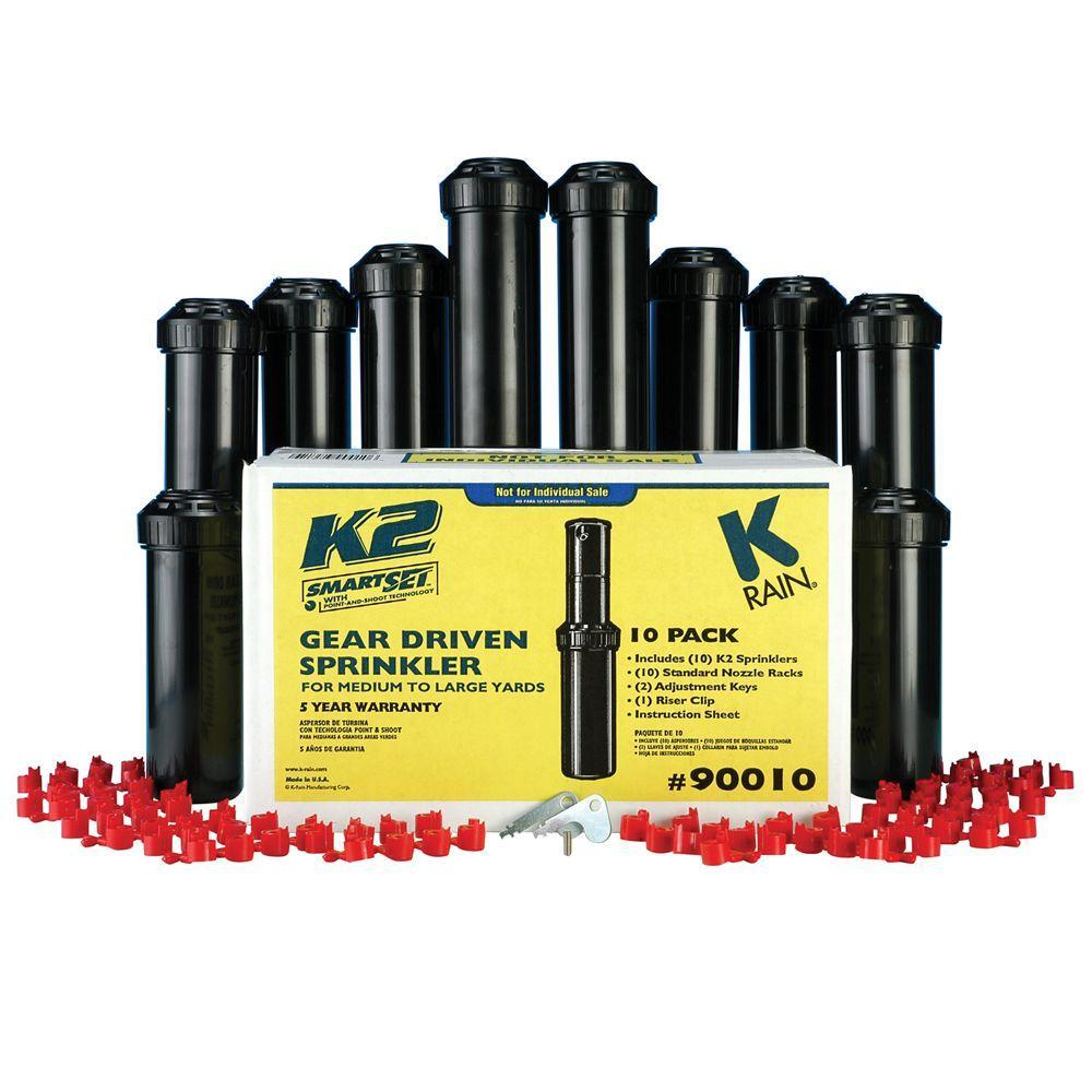 null 5 in. K2 Gear Drive Sprinklers (10-Pack)
