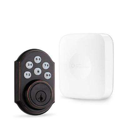 SmartThings Hub with Kwikset Bronze Connected Deadbolt Bundle