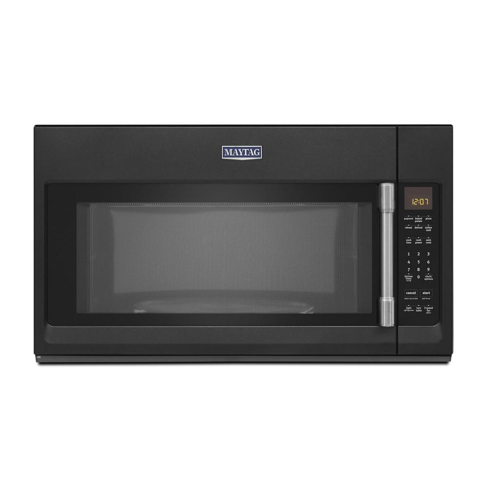 Maytag 2.0 cu. Ft. Over the Range Microwave in Cast Iron Black