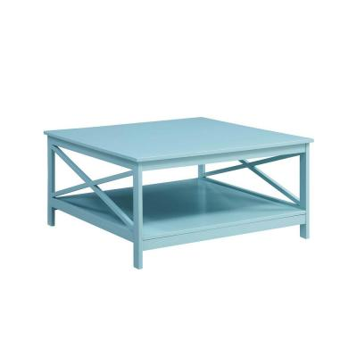 Oxford Sea Foam 36 in. Square Coffee Table