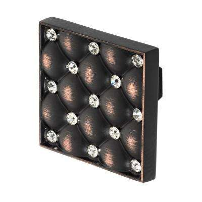 Coco 1-5/32 in. Oil Rubbed Bronze with Clear Crystal Cabinet Knob