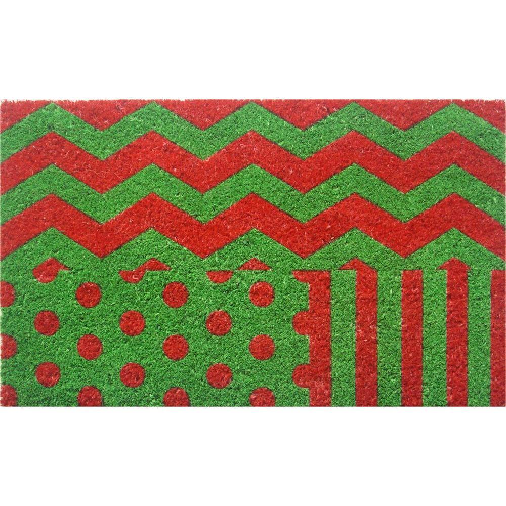 Wrapping Paper 18 in. x 30 in. Hand Woven Coconut Fiber Door Mat