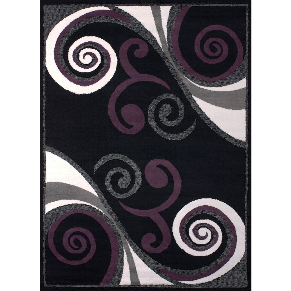 Billow Black 7 ft. 10 in. x 10 ft. 6 in.