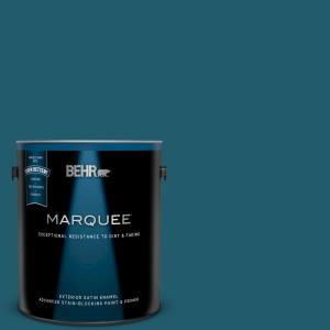 Behr Marquee 1 Gal T16 04 Galapagos Satin Enamel Exterior Paint Primer 945301 The Home Depot