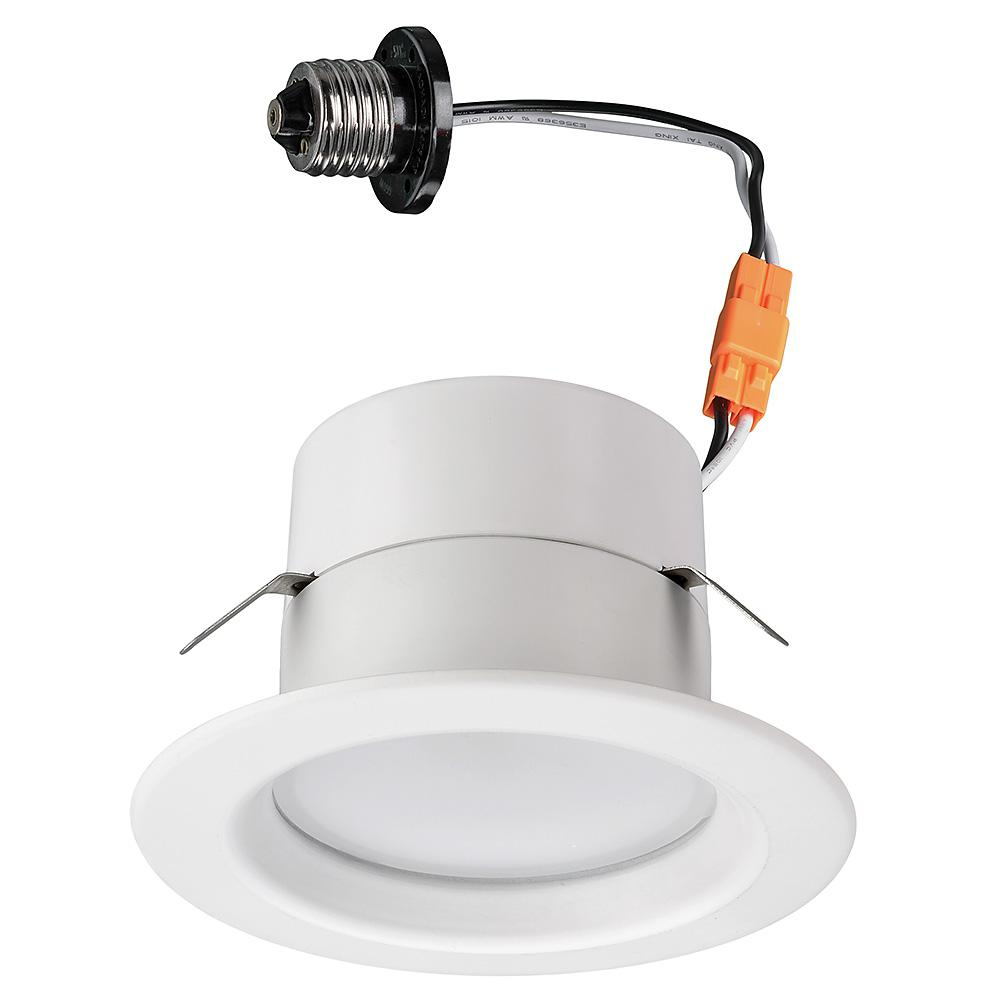Commercial Electric Bluetooth 4 in  Selectable Integrated LED Recessed Trim  Downlight with 21 Color Changes 625 Lumens Dimmable
