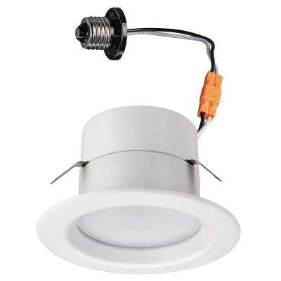 4 in. Bluetooth WiFi Smart Selectable Integrated LED Recessed Lighting Trim 21 Color Changes 625 Lumens Dimmable